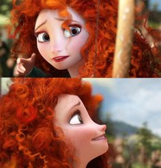 Elsa With Merida's hair❤ I think she still looks normal