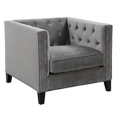 Pair this with a mirror end table for a elegant look. You will love it!  Z Gallerie - Royce Chair - Charcoal