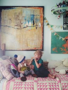 .Fantastic having abstract art in children's rooms that changes with their perspectives.