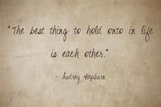 Not sure what to say when giving a promise ring? Here's our love quote of the day by Audrey Hepburn!