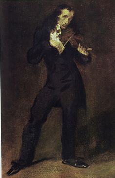 Paganini by Eugene Delacroix I will always love this piece