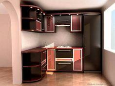 Cool Modern Blue Kitchen Ideas with White Tile Backsplash