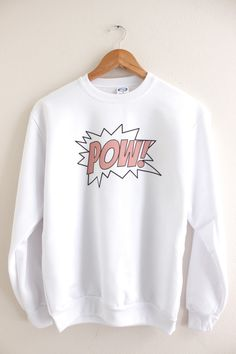 Pink POW Graphic Crewneck Sweatshirt from Olivia Rose Inc. Shop more products from Olivia Rose Inc on Wanelo.
