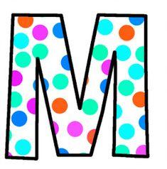 ArtbyJean - Paper Crafts: Alphabet Set - Polka Dots in bright magenta, shocking pink, blue, turquoise, aqua, and orange. Alphabet Style, Monogram Alphabet, Alphabet And Numbers, Polka Dot Letters, Bubble Letters, Polka Dots, Abc Letra, Alphabet Pictures, Magenta