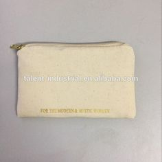Wholesale Thick Quality Small Canvas Fabric Cotton Zipper Pouch ...