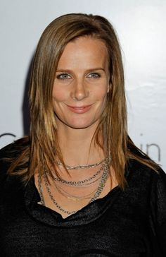 Rachel Griffiths casual hairstyle with bangs