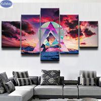 5D DIY Animals Landscape 5-pictures Diamond Painting Combination Kit Home Decor