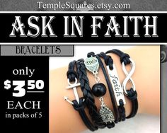 Black and bronze and sandalwood bracelets are now in stock. Black and silver will arrive near 17th of Jan.  Bracelets, only $3.50 each (in packs of 5) YW 2017 Mutual theme Ask of God Ask ini Faith James 1:5-6 Jewelry Charm Bracelet. Cute uplifting inspiring reminders of their Personal Progress and Yearly themes. Symbolic charms, faith, wisdom, eternity, and anchor. You can choose Black and Bronze style or Sandalwood and Silver style. You also have the option to mix colors in each order as…
