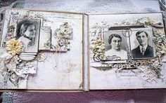"janeza's art blog: Онлайн курс ""Альбомы. Top Secrets"" / Альбом №3 ""Семейная история"" Mini Albums Scrap, Scrapbook Albums, Scrapbooking, Family Album, Mini Books, Vintage World Maps, Gallery Wall, Fun, Mixed Media"