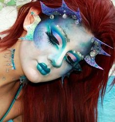 fantasy mermaid face painting - Cerca con Google
