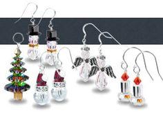 snowman earring kit, christmas tree earring kit, angel earring kits and more