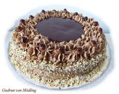 Haselnuss-Nougat-Karamell Torte
