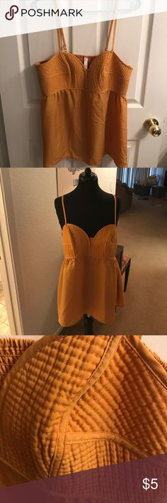 Target Yellow Tank Top Sweetheart neckline tank top. Perfect condition. Pair it with jeans and wedges for a perfect summer night outfit. Ships from a smoke free home. Xhilaration Tops Tank Tops