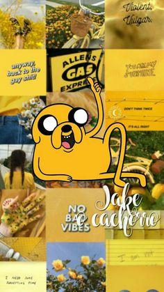 Jake the dog Adventure time Aesthetic yellow Cartoon Wallpaper Iphone, Cute Cartoon Wallpapers, Tumblr Wallpaper, New Wallpaper, Lock Screen Wallpaper, Yellow Aesthetic Pastel, Aesthetic Pastel Wallpaper, Aesthetic Wallpapers, Adventure Time Wallpaper