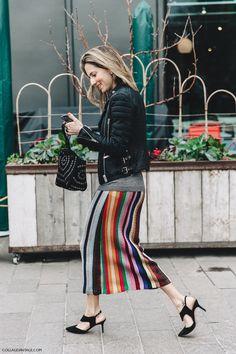 LFW-London_Fashion_Week_Fall_16-Street_Style-Collage_Vintage-Marina_Larroude-Stripped_Skirt-