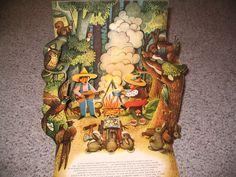 Tip Top Go Camping Illustrated V Kubasta Czech Pop Up Vintage Book 1962 | eBay