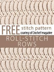 Roll Stitch Rows  Stitch Patterns
