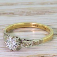Art Deco 0.36 Carat Old Cut Diamond Engagement Ring, circa 1925 by GatsbyJewels on Etsy