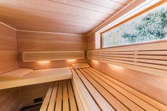 Venkovní sauna - sauna Klafs na míru nabízí krásný výhled z podlouhlého okna Bratislava, Stairs, Home Decor, Stairway, Decoration Home, Room Decor, Staircases, Home Interior Design, Ladders