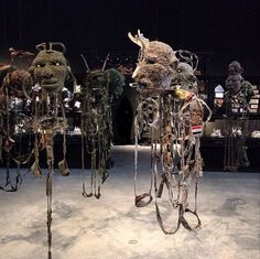 """Masterpieces at ""All the King's men"", 2015 (knitted military uniforms). Art Installations, Installation Art, Aboriginal Artists, Venice Biennale, Military Uniforms, Weird Creatures, Australian Art, Africans, Contemporary Artists"