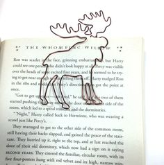 Moose Bookmark by Wirelings on Etsy