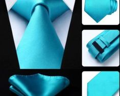 Luxusná kravatová sada - kravata a vreckovka v tyrkysovej farbe0 Ties, Accessories, Fashion, Moda, La Mode, Neck Ties, Tie, Fasion, Fashion Models