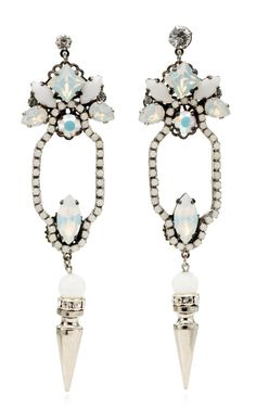Erickson Beamon Clarity Earring in Swarovski crystals and art deco design $480