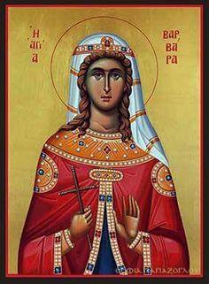Saint Barbara, Roman Church, Byzantine Icons, Orthodox Christianity, Orthodox Icons, Christian Art, Religious Art, Catholic, Cathedral