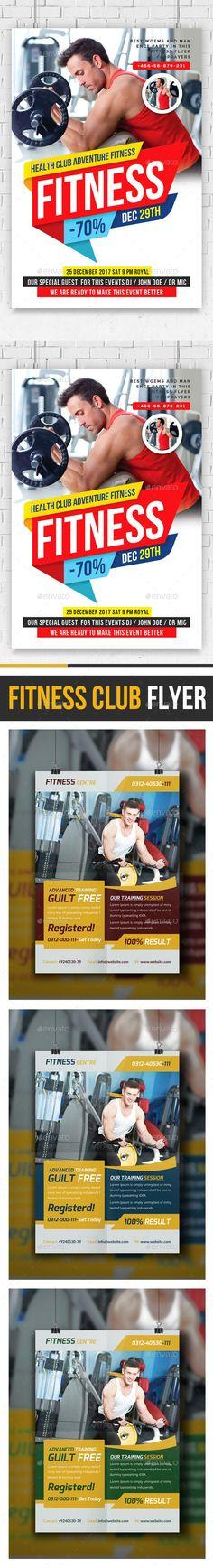 #Fitness #Flyers #Bundle - Corporate Flyers Download here:    https://graphicriver.net/item/fitness-flyers-bundle/20437765?ref=alena994
