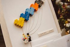 Lyn and Matts Quirky Colourful Wedding - Ceremony idea.... lego building???