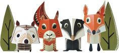 Forest Friends Printable Kit from MiboStudio