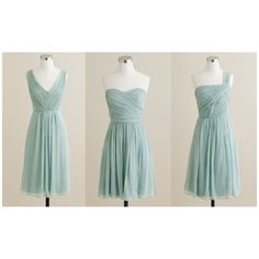 pale aqua bridesmaids do they exist? Weddingbee boards ❤ liked on Polyvore