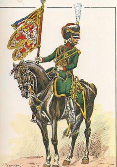 French; Consular Guard, Casseurs a Cheval, Sous-Lieutenant, Porte-Guidon, 1801