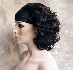 CLASSIC-Brown-Black-3-4-Fall-Hairpiece-Short-Curly-Half-Wig-Hair-Piece-2