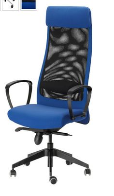Tall office chairs to read over the desktop