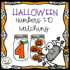 Halloween Numbers 1-10 Matching Printable Activity by Grow Learning