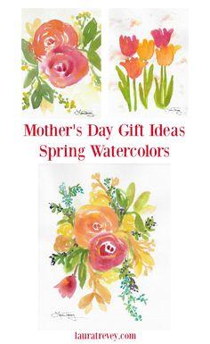 Spring Floral Waterc