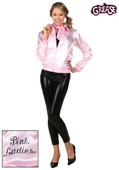 When you wear our Adult Grease Pink Ladies Jacket you might just break out spontaneously into song! You go together like the bop shoo bop shoo bop.