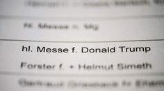 Messe für fünf Euro: Bayern beten für Donald Trump