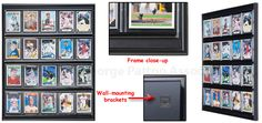 Sports Display Case W/ 20 Plastic Slide-in Sleeves For Baseball Cards, Wall…