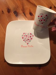 Please visit our website for Dot Art Painting, Pottery Painting, Ceramic Painting, Ceramic Art, Painted Pottery, Pottery Cafe, Hand Painted Plates, Mandala Dots, White Clay