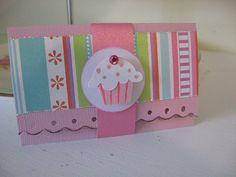 Pink Cupcake Gift Card Holder