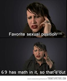 Marilyn Manson's dilemma…