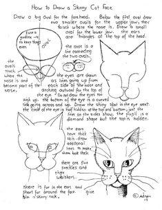 Как рисовать Worksheets для молодого художника: кошки