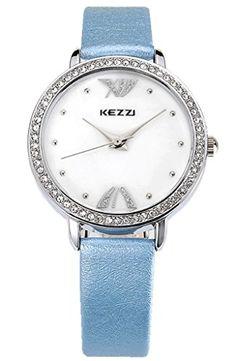 Kezzi Women's Watches K1021 Fashion Luxury Quartz Analog Crystal Accented Blue Leather Wrist Watch Kezzi http://www.amazon.com/dp/B012BZUD2Q/ref=cm_sw_r_pi_dp_aGkSvb1J2WQRK