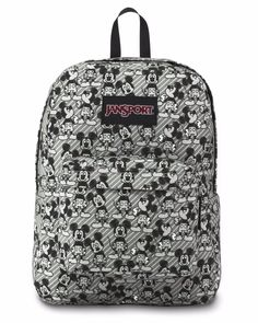 66f44349645 JanSport Unisex Disney SuperBreak Grey Rabbit Mickey Sketch Backpack   JS0A3BB3-38H