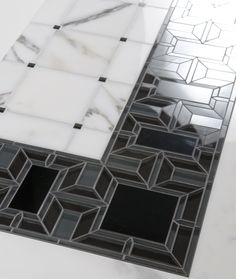 Bryant rect Border - Water jet  by Mosaique Surface