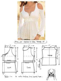 Dress Sewing Patterns, Sewing Patterns Free, Clothing Patterns, Diy Clothing, Sewing Clothes, Fashion Sewing, Diy Fashion, Costura Fashion, Diy Vetement