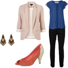 Trendy work outfit by sbrouill on Polyvore featuring Jasmine, Topshop, Dsquared2 and Dorothy Perkins
