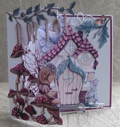 """Hello Everyone, Design Team samples for Carnation Crafts . """"Fantastic Forrest Collection"""" Remastered Artwork will be launching on Crea. Homemade Crafts, Diy And Crafts, Hunkydory Crafts, Tattered Lace Cards, Shaped Cards, Unique Presents, Card Making Inspiration, Carnations, Scrapbook Cards"""